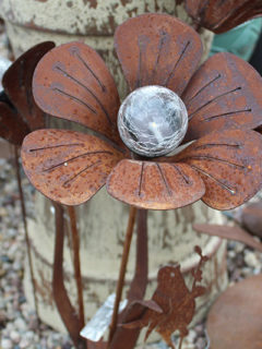 metal flower art
