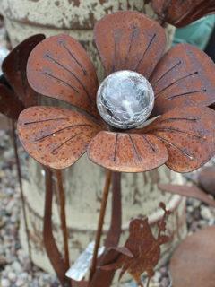 metal flower art