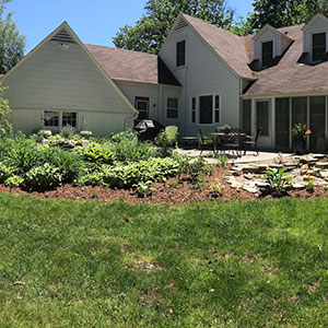 back yard landscaping project