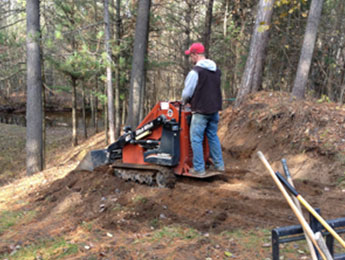 Skidsteer services for landscaping projects