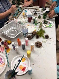 pine cone art class